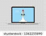 startup concept. start up... | Shutterstock .eps vector #1362255890