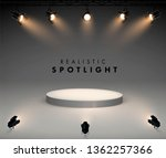 spotlights with bright white... | Shutterstock .eps vector #1362257366