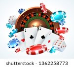 playing cards poker chips.... | Shutterstock .eps vector #1362258773