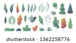 flat minimal leaves. fantasy... | Shutterstock .eps vector #1362258776