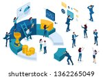 isometric character set  young... | Shutterstock .eps vector #1362265049