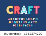 stitched font  triple stitch ... | Shutterstock .eps vector #1362274220