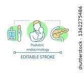 pediatric endocrinology concept ... | Shutterstock .eps vector #1362275486