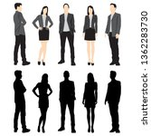 set of silhouettes of men and... | Shutterstock .eps vector #1362283730