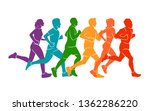 running marathon  people run ... | Shutterstock .eps vector #1362286220