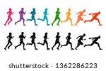 running marathon  people run ... | Shutterstock .eps vector #1362286223