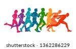 running marathon  people run ... | Shutterstock .eps vector #1362286229