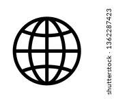globe outline vector icon.... | Shutterstock .eps vector #1362287423