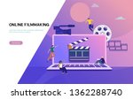 video production vector... | Shutterstock .eps vector #1362288740