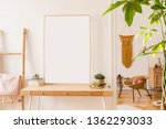sunny scanidnavian interiors of ... | Shutterstock . vector #1362293033