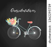 Vintage Hipster Bicycle With...