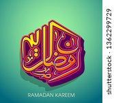 ramadan kareem arabic...   Shutterstock .eps vector #1362299729