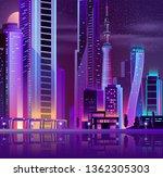 night metropolis downtown... | Shutterstock .eps vector #1362305303