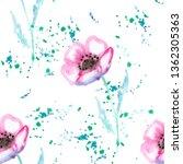 watercolor seamless pattern... | Shutterstock . vector #1362305363
