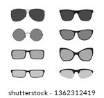 glasses icons  isolated on... | Shutterstock .eps vector #1362312419