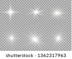 white glowing light explodes on ... | Shutterstock .eps vector #1362317963