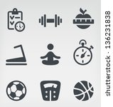 vector illustration of fitness... | Shutterstock .eps vector #136231838