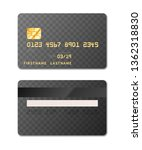 realistic credit card template... | Shutterstock .eps vector #1362318830
