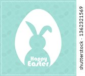 happy easter greeting card with ... | Shutterstock .eps vector #1362321569