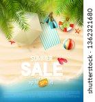 summer sale flyer with summer...   Shutterstock .eps vector #1362321680