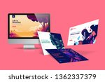 web design template. vector... | Shutterstock .eps vector #1362337379