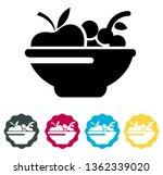 fruit bowl   icon  ... | Shutterstock .eps vector #1362339020