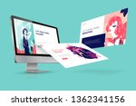 web design template. vector... | Shutterstock .eps vector #1362341156