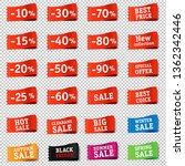 price tags set transparent...   Shutterstock . vector #1362342446