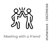 outline meeting with a friend... | Shutterstock .eps vector #1362346166