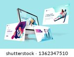 web design template. vector... | Shutterstock .eps vector #1362347510