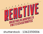 trendy 3d comical font design ... | Shutterstock .eps vector #1362350006