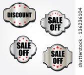 discount labels.   Shutterstock .eps vector #136236104