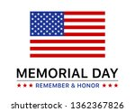 memorial day holiday display... | Shutterstock .eps vector #1362367826