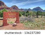 Welcome Sign To Sedona Arizona...