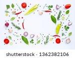 various fresh vegetables and... | Shutterstock . vector #1362382106