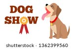 Dog Show Poster Colorful Raste...