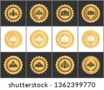 gold royal quality approval...   Shutterstock . vector #1362399770