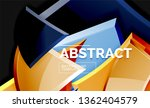 glossy mosaic style geometric... | Shutterstock .eps vector #1362404579