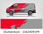 van wrap design. wrap  sticker... | Shutterstock .eps vector #1362409199
