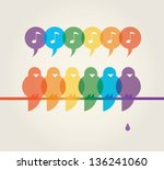 vector illustration of family... | Shutterstock .eps vector #136241060