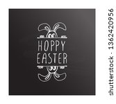 hand drawn easter typographic... | Shutterstock .eps vector #1362420956