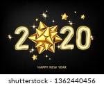 2020 happy new year black...   Shutterstock .eps vector #1362440456