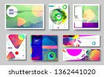 modern abstract covers set.... | Shutterstock .eps vector #1362441020