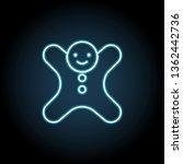 man cookie neon glow icon....