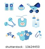 blue baby icons | Shutterstock .eps vector #13624453