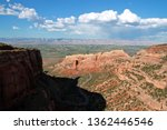 Scenic view of Fruita Canyon and Rim Rock Drive at Colorado National Monument in Fruita, Colorado