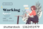 working space landing page... | Shutterstock .eps vector #1362451979