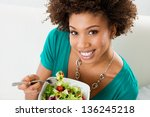 close up of beautiful african...   Shutterstock . vector #136245218