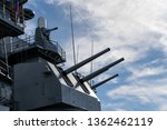 Cannons on a Battleship