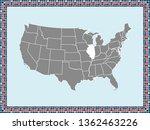 usa map vector outline... | Shutterstock .eps vector #1362463226